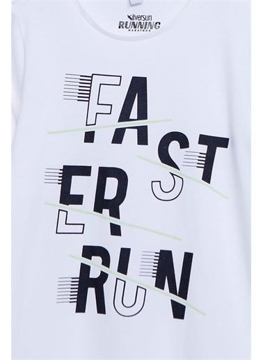 Silversun Kids Uzun Kollu T-Shirt Örme Uzun Kollu Baskılı Tişört Erkek Çocuk Bk-312598 Beyaz